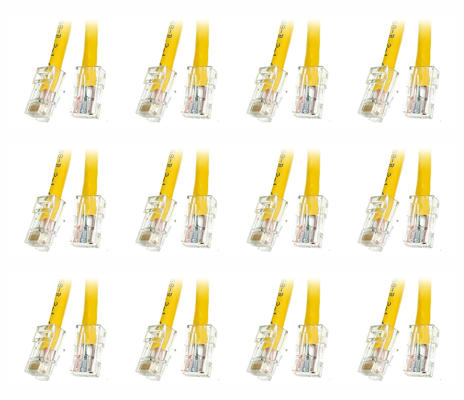 Ce Cat6 1 Foot Bootless Ethernet Patch Cable 10 Pack Cat5e Yellow 50 Part Number Cne57757 Computers Accessories