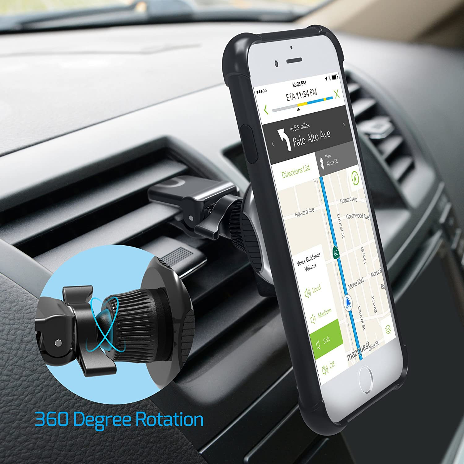 Universal Car Air Vent Mount Cradle Holder for Tablet Mobile Phone Cellphone ELM