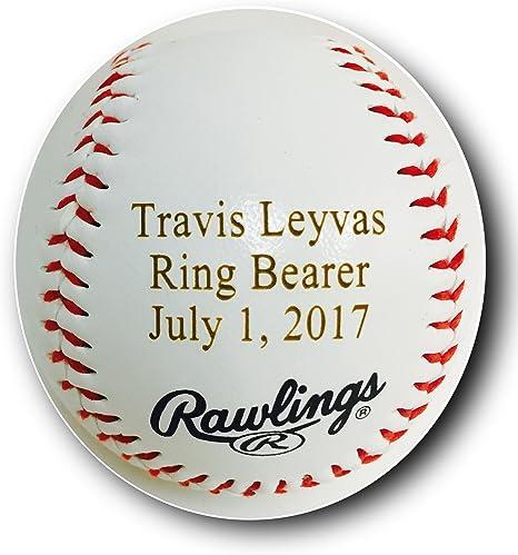 Personalized Ring Bearer Baseball
