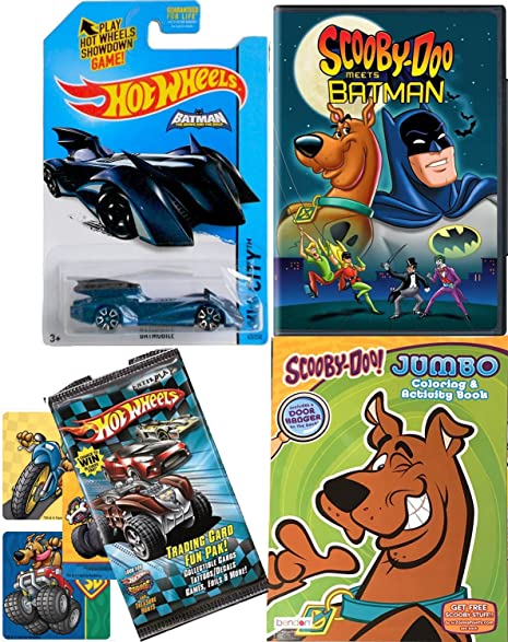 Scooby Doo Batman Fun Pack Cartoon Hot Wheels Movie DVD Coloring Book