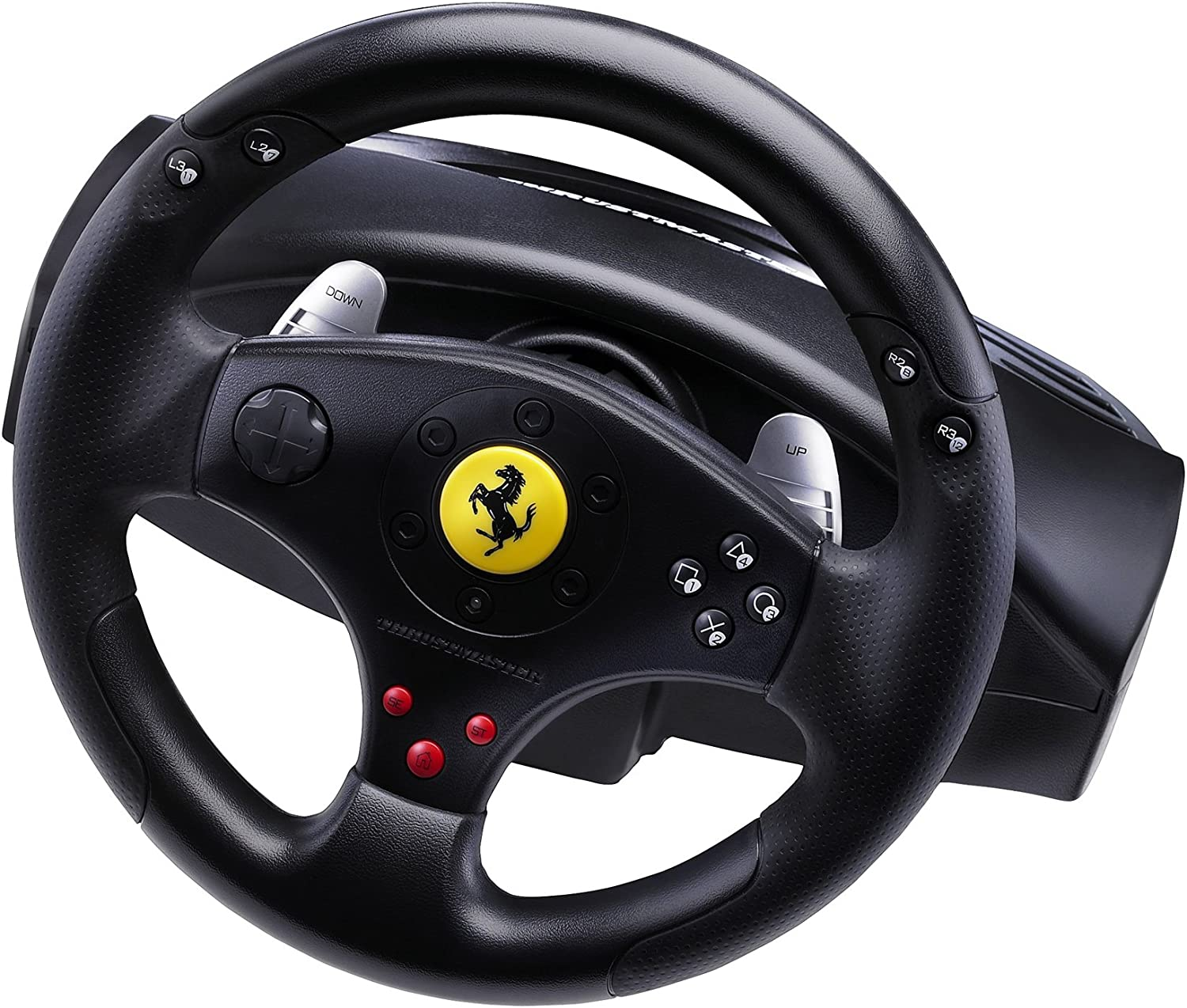 Thrustmaster Ferrari GT Experience Racing Wheel for PS3 and PC Hercules 2960697 ARPTRTMST2960697B12345