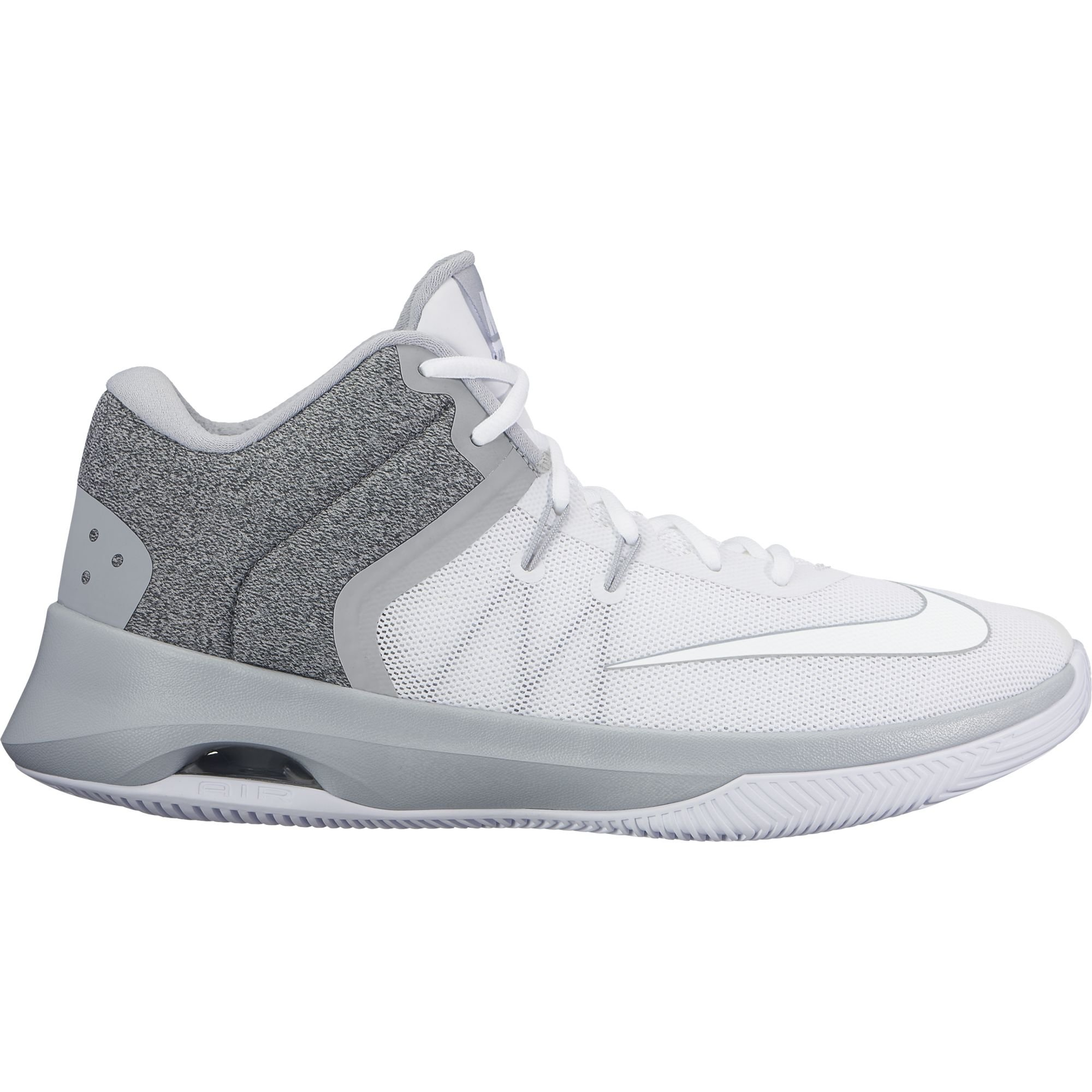 NIKE Men's Air Versitile II Basketball Shoe White/Wolf Grey 9.5