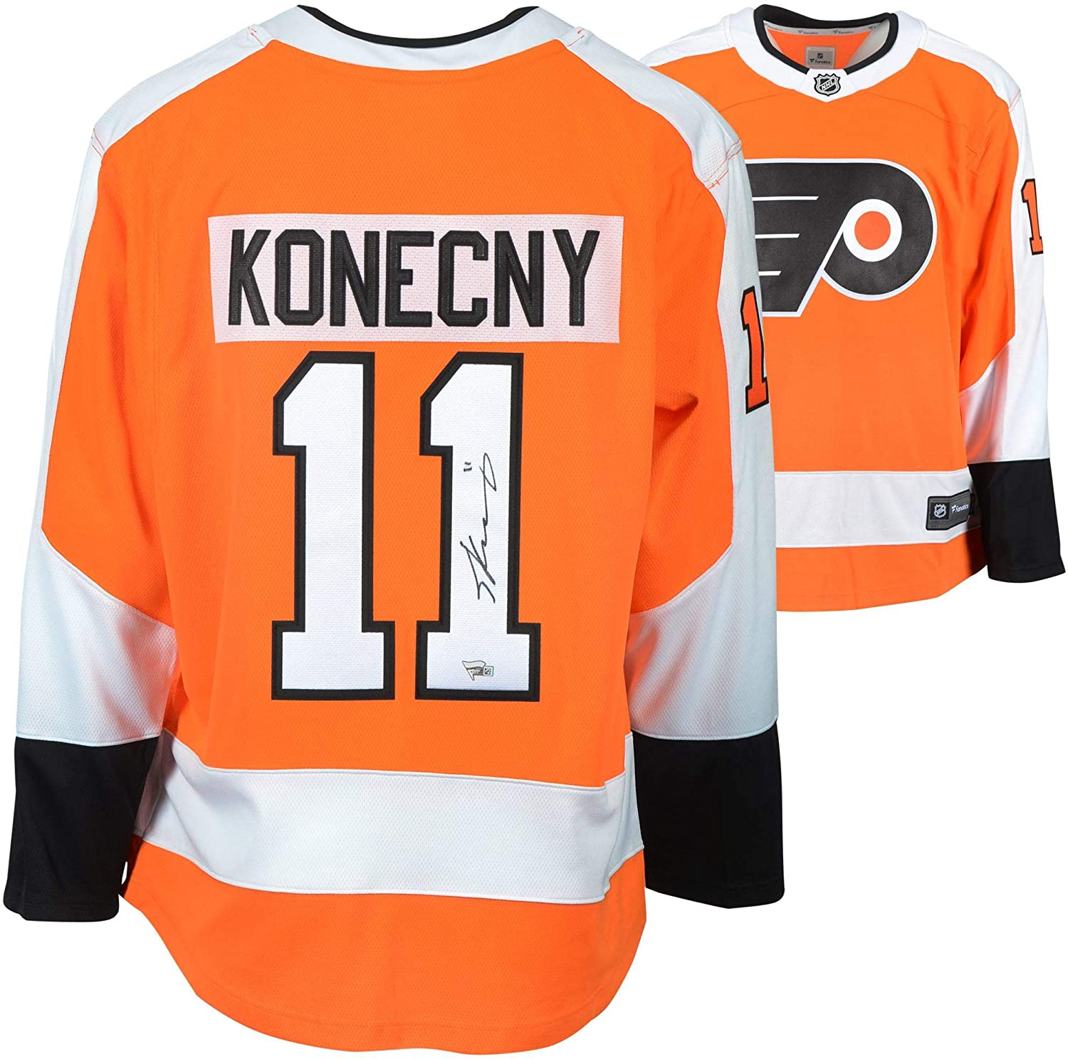 size 40 7b318 8ef0e Travis Konecny Philadelphia Flyers Autographed Orange ...