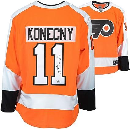 size 40 de52a 7ad5e Travis Konecny Philadelphia Flyers Autographed Orange ...