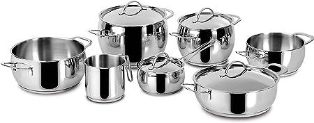 Lagostina Batterie De Cuisine 11 Pieces En Inox 18 10 Fond