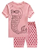 Amazon Price History for:Girls Pajamas Little Kid Shorts Set 100% Cotton Clothes Size 12M-8Y