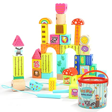 Punctual String Of Beads Baby Child Wooden Toys Wooden Blocks