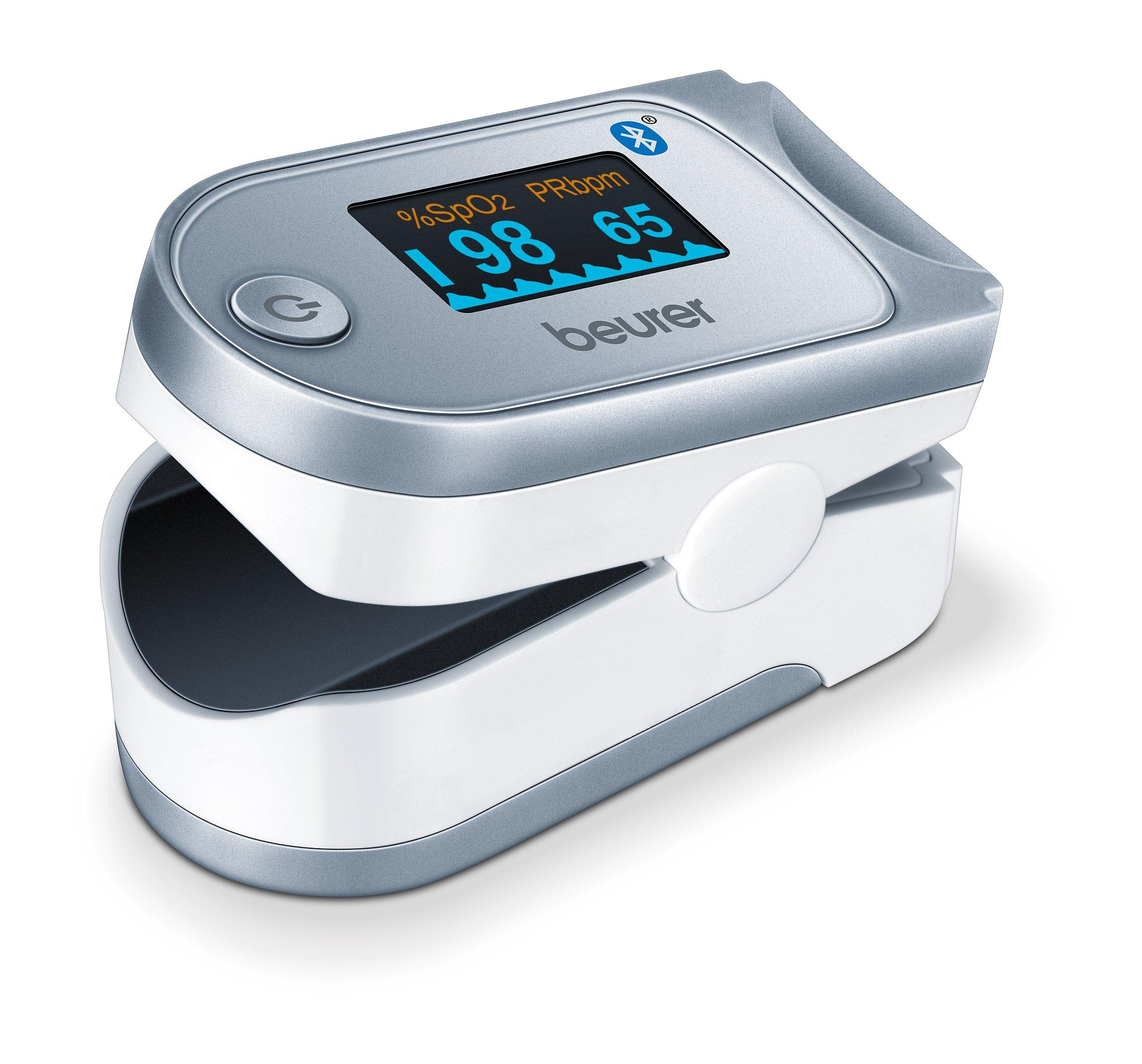 Beurer Bluetooth Smart Fingertip Pulse Oximeter, PO60