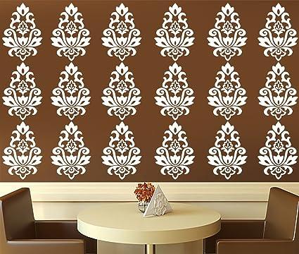 Kayra Decor Reusable Vinyl Diy Painting Wall Stencil For Wall Decor