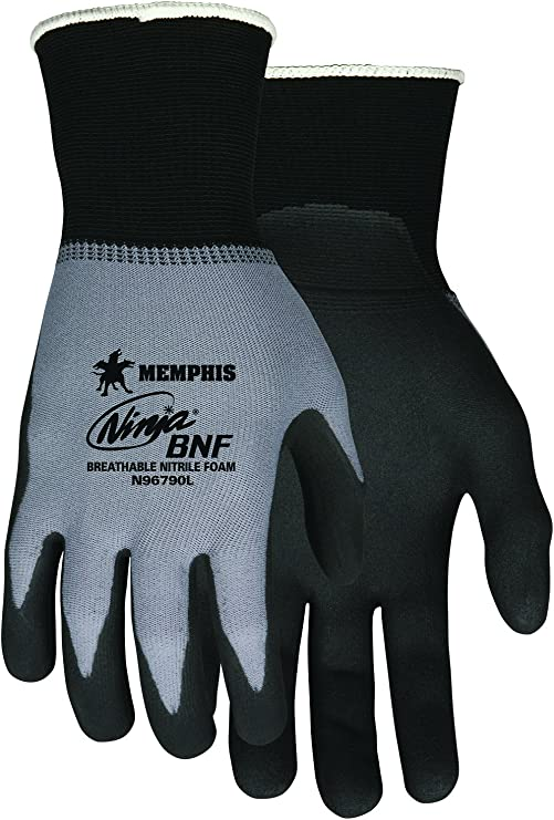 MCR Safety N96790XS Ninja BNF Nitrile Gloves, ANSI Puncture ...