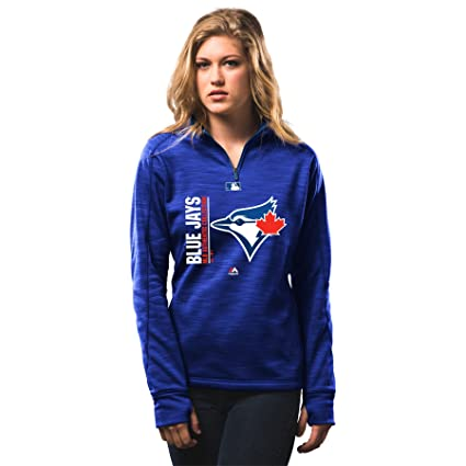 02a77c827f5 Toronto Blue Jays Women s Authentic Collection Team Icon Streak 1 4 Zip  Fleece - Size