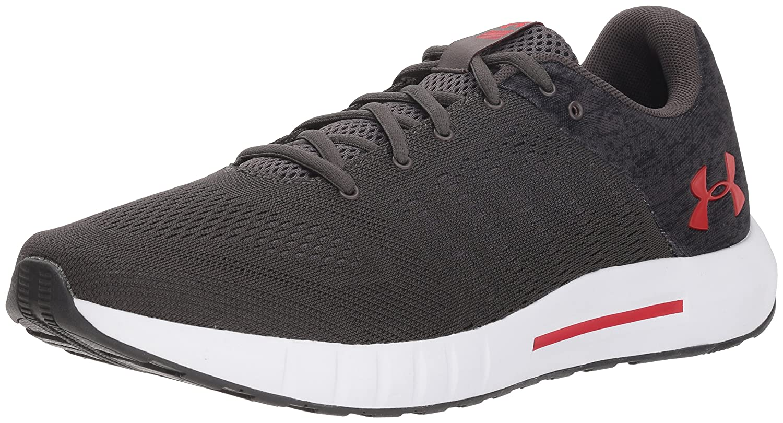 Under Armour Men's Micro G Pursuit Fiber Opt Running Shoe B077644KCJ 10 M US Charcoal (101)/White