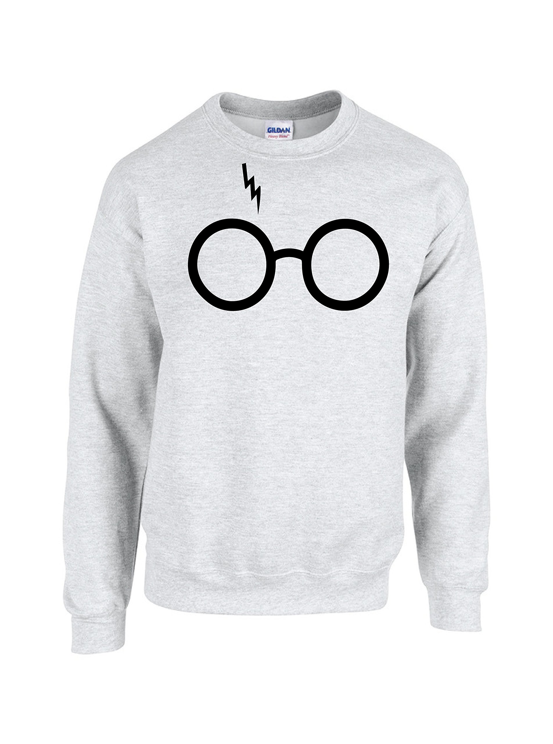 Harry Potter Glasses Sweater Crewneck Medium White