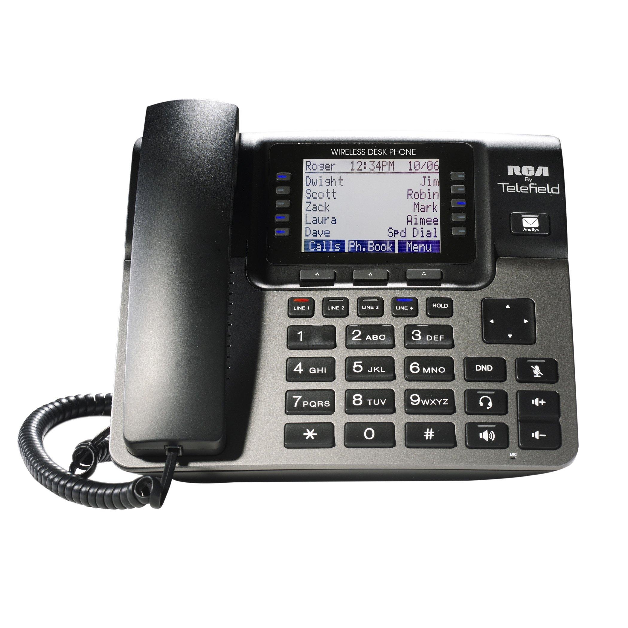 RCA Unison Accessory Desk Station Wireless 4-Line Landline Telephone for use with Unison U1000 Base Station (U1100)