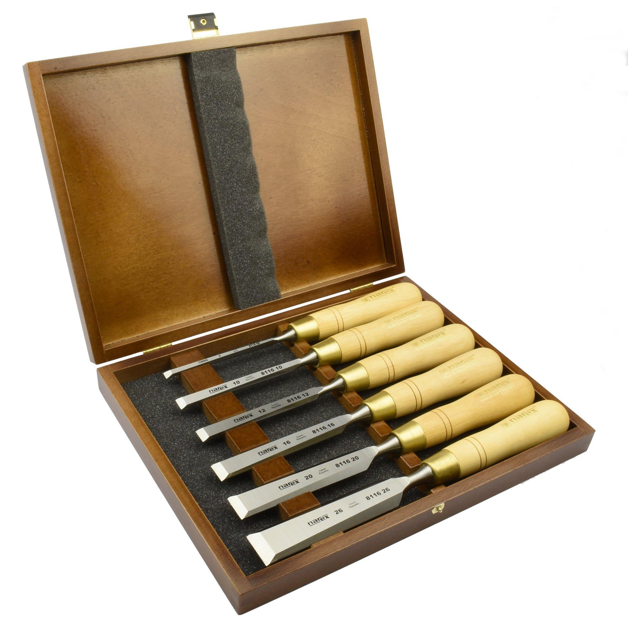 black Narex Chisels 8116 Cabinetmakers Chisel Boxed Set