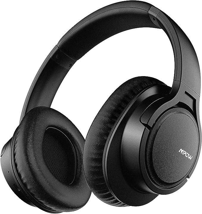 Mpow H7 Cascos Bluetooth Diadema, 25hrs de Reproducir, Hi-Fi Sonido, Cascos Bluetooth Inalámbricos con Micrófono Incorporado, Auriculares Bluetooth Diadema para TV, Móvil, PC-Negro: Amazon.es: Electrónica