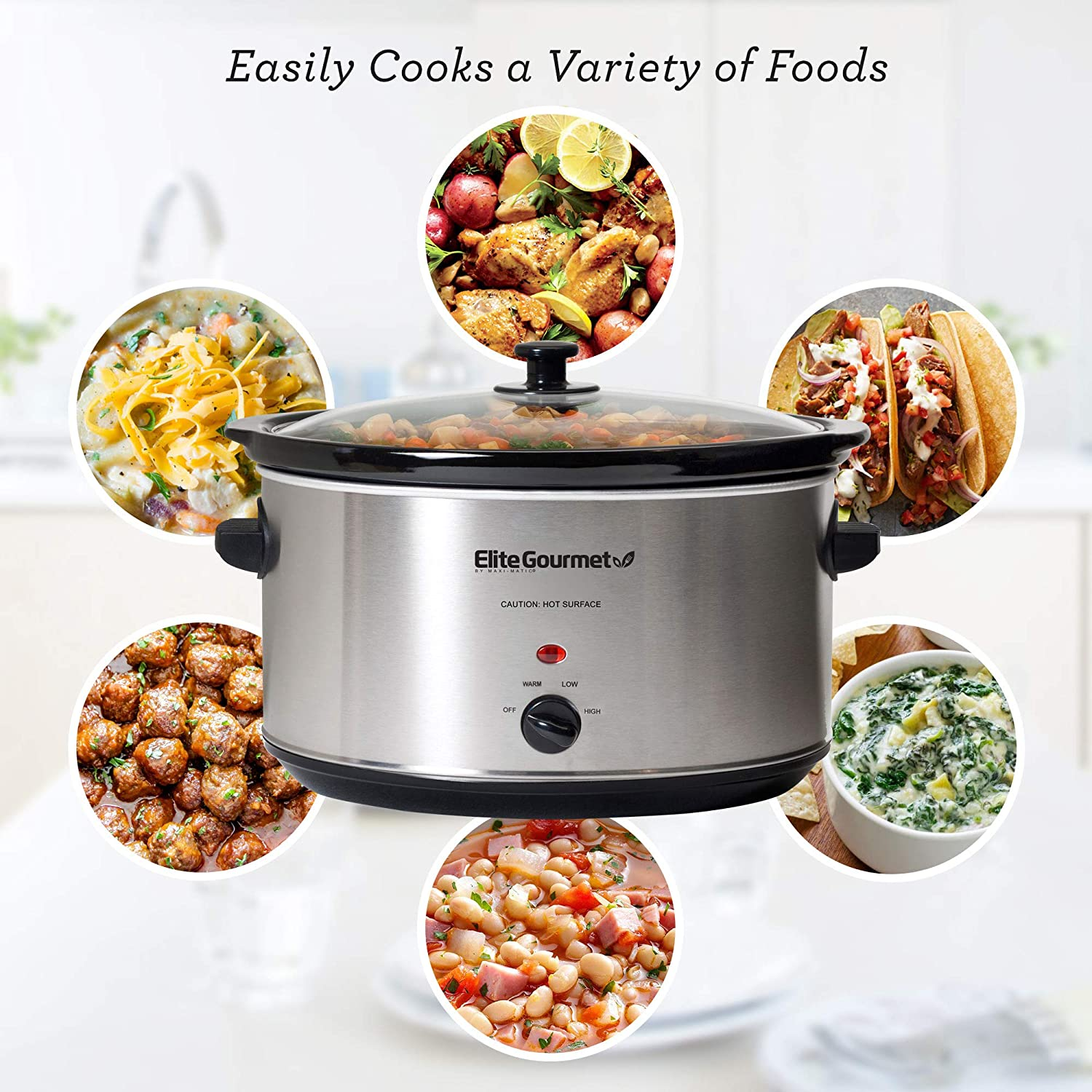 Slow cooker with ceramic insert