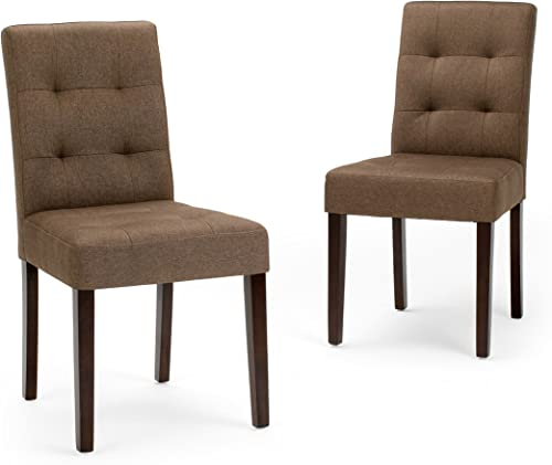 Simpli Home Andover Contemporary Dining Chair Set of 2