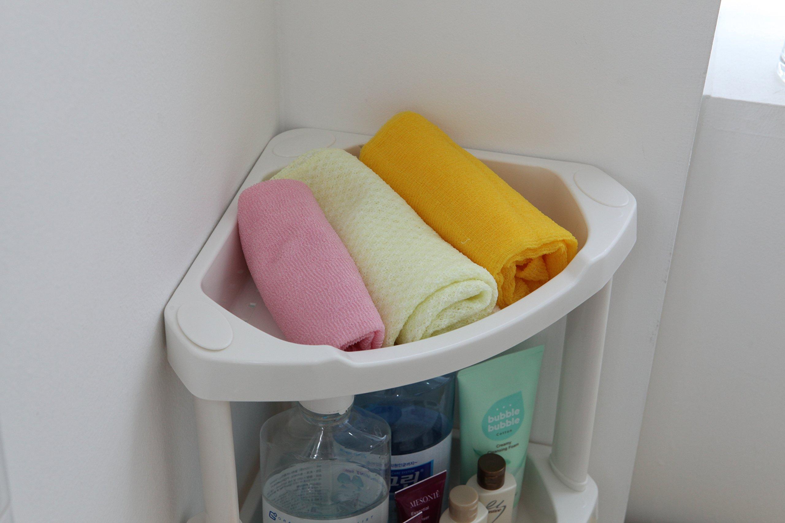 Tenby Living Corner Shower Caddy - 4 Shelf Shower Organizer Caddie with Movab. by Tenby Living