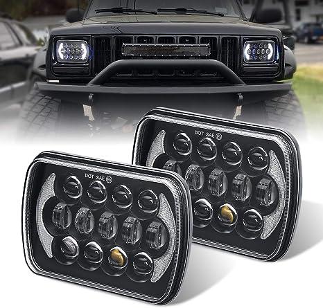 amazon.com: (pair) 5''x7'' 6''x7'' high low beam led headlights ...  amazon.com