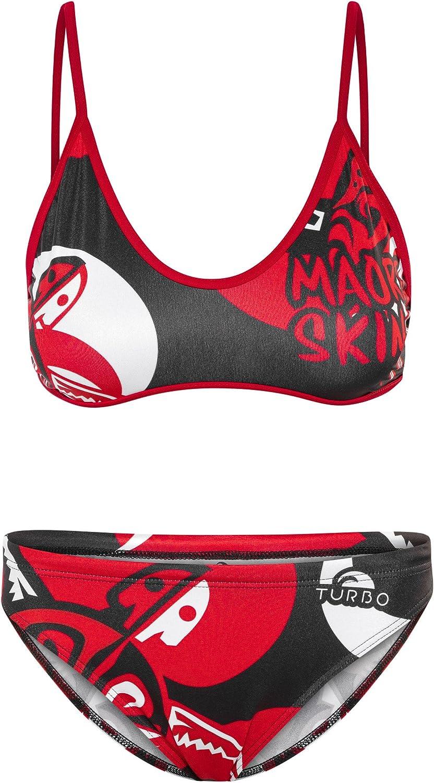 Turbo Maori Skin Tatoo - Bañadores Mujer - rojo/negro Talla L   US 34 2017: Amazon.es: Deportes y aire libre
