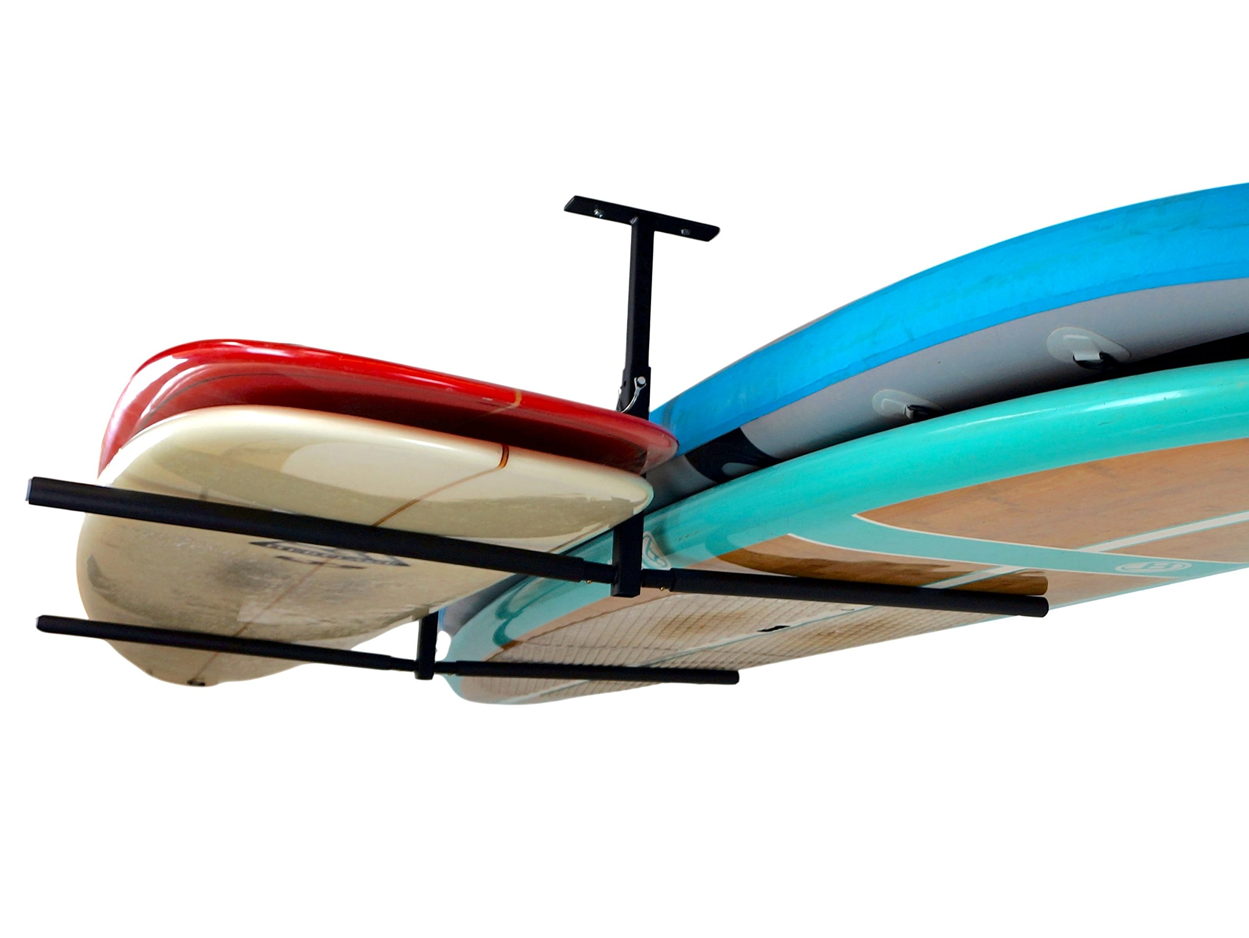 Double SUP & Surf Ceiling Storage Rack - Hi-Port 2 Overhead Hanger Mount - Home & Garage