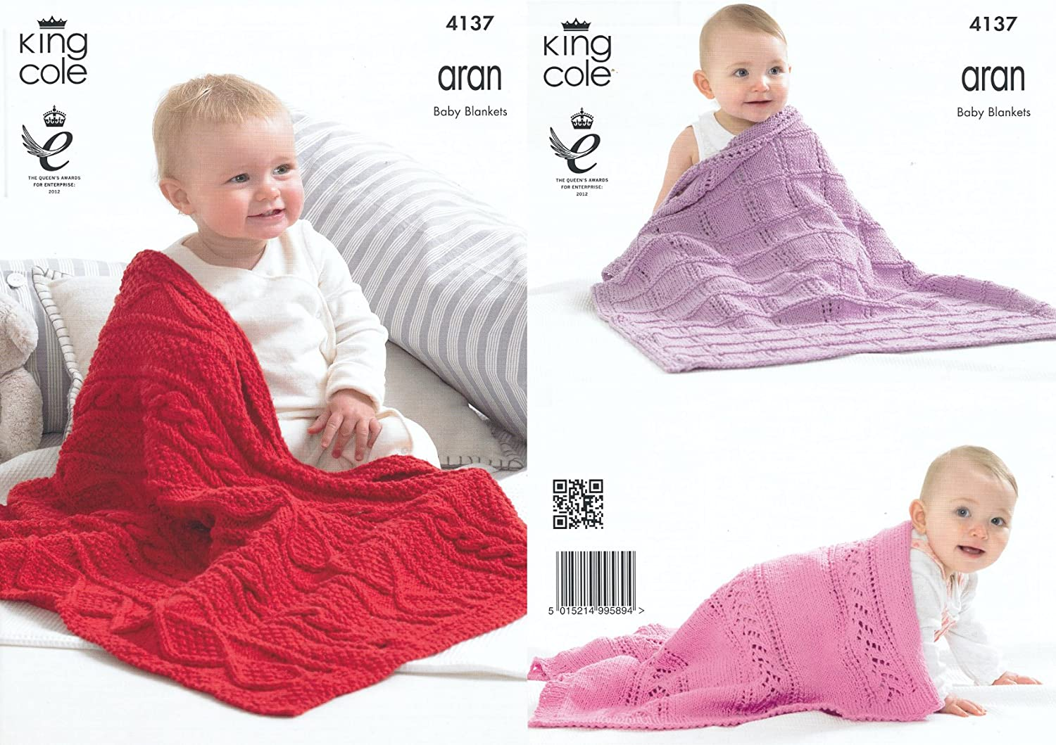 King Cole Recycled Cotton Aran Knitting Pattern for Cable Knit Lace ...