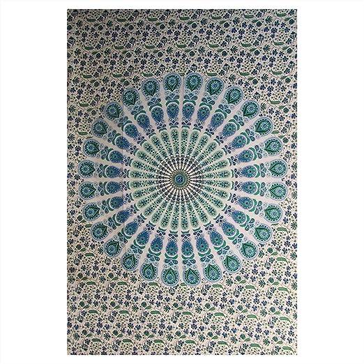 Amazon.com: Colgante de pared bohemio de mandala floral de ...