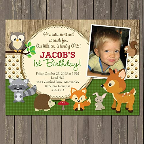 Amazon Woodland Birthday Invitation Animal