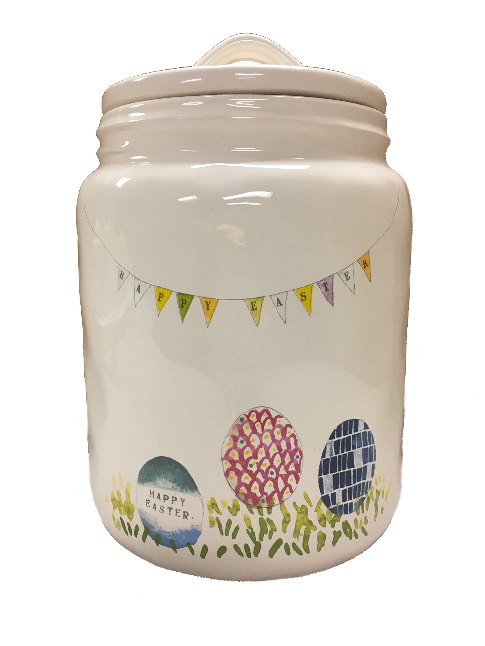 Beautiful Rae Dunn by Magenta Easter Ceramic Canister/Cookie Jar