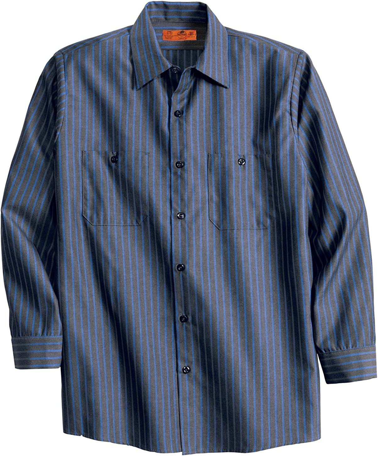 Red Kap Long Sleeve Striped Industrial Work Shirt CS10