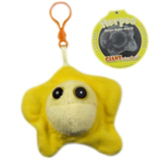 GIANTmicrobes Keychain - Herpes (Herpes Simplex Virus 2)