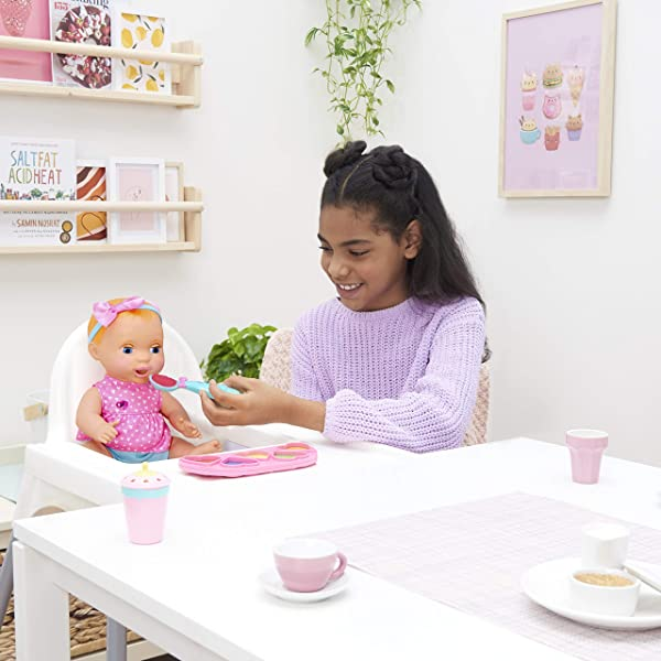 Luvabella Mealtime Magic Mia baby doll for kids