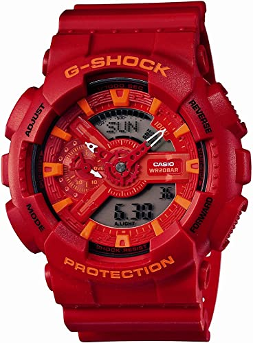 Amazon Com Casio G Shock Blue And Red Series Men Watch Ga 110ac 4ajf Limited Edition Japan Import Watches