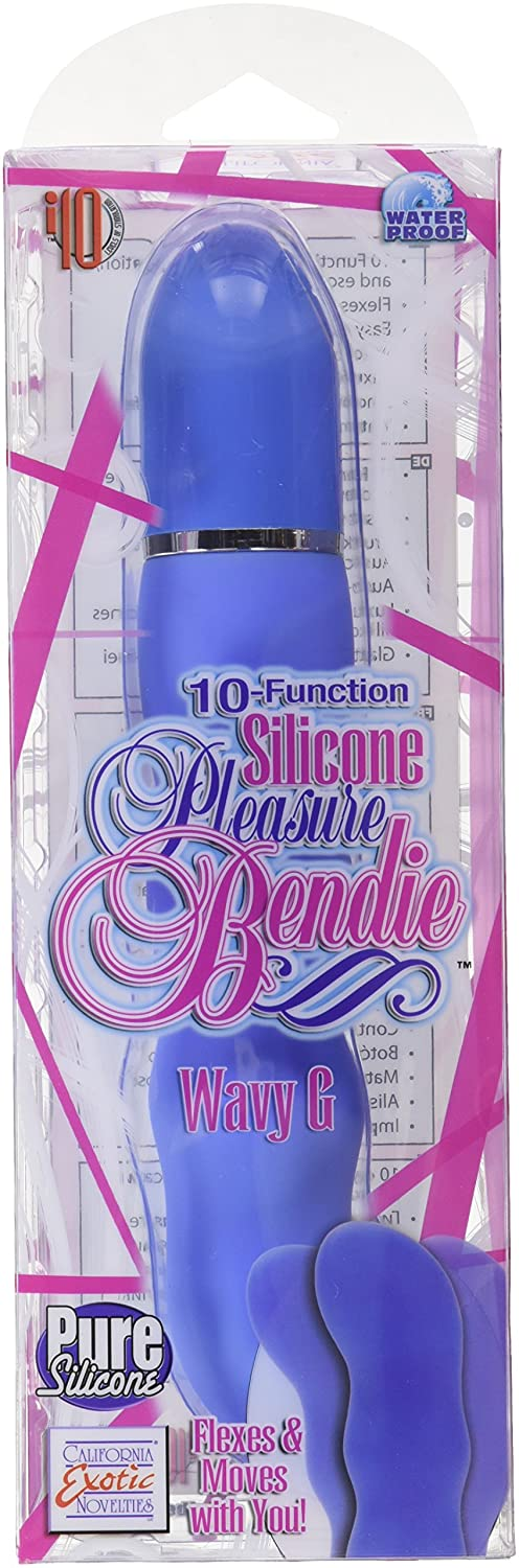 Amazon.com: California Exotic Novelties 10-function Silicone Pleasure Bendie Wavy G - Blue: Health & Personal Care