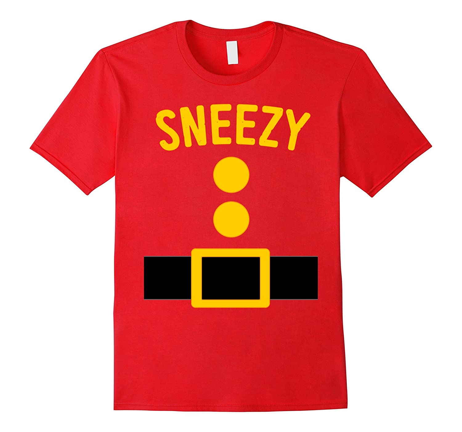 Sneezy Dwarf Costume T-Shirt Funny Halloween Gift-T-Shirt