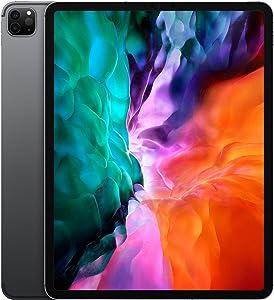 Apple iPad Pro (12.9-inch, Wi-Fi + Cellular, 256GB) - Space Gray (4th Generation) (2020) (Renewed)