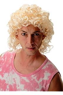 WIG ME UP ® - 3751-P88 Peluca Mujer Hombre Halloween Carnaval Rubio Claro rizos