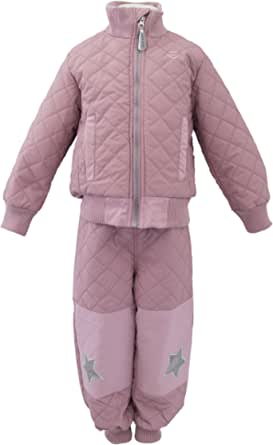MIKK-Line - Melton Kids & Baby Quilted Thermoset Fleece Lined Top & Bottom Snow Set