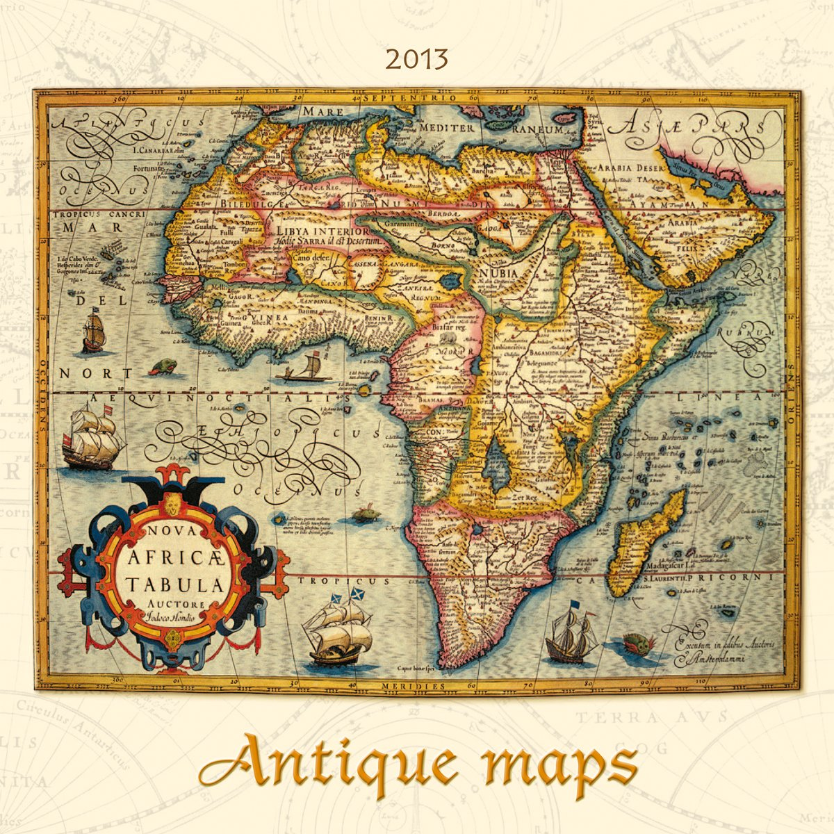Antique Maps Bildkalender 2013