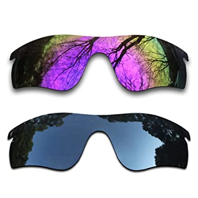 ef33f2621b5 Image Unavailable. Image not available for. Color  2 Pair Polarized Lens  Replacement for Oakley RadarLock Path Black Plasma Purple