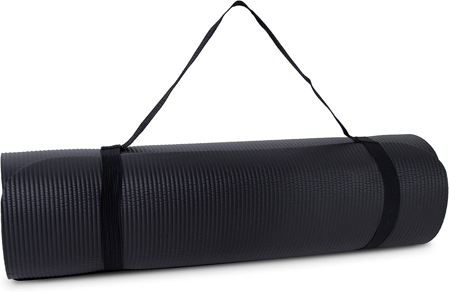 Tone Fitness Extra Thick High Density Exercise Yoga Mat, with Carrying Strap