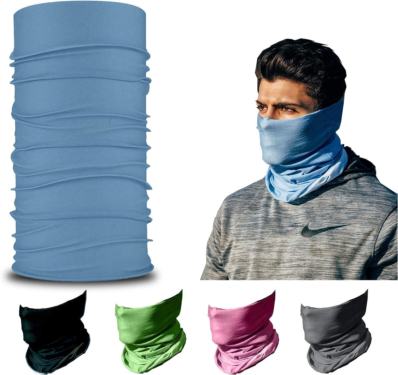 ARMORAY Face Mask, Head Wrap, Neck Gaiter, Headband, Fishing Mask, Magic Scarf, Tube Mask, Face Bandana Mask, Neck Balaclava and Sport Scarf 12 in 1 Headband Sweatband