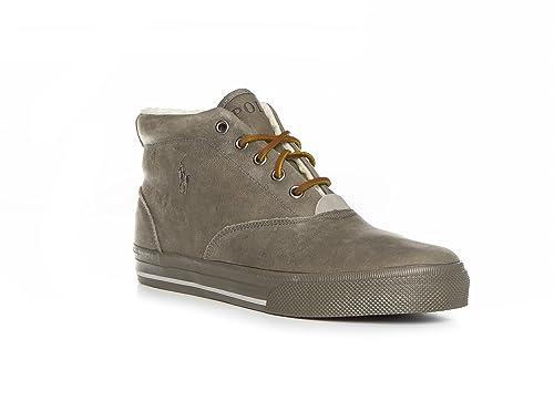 Polo Ralph Lauren - Zapatillas para Hombre Gris Gris 44: Amazon.es: Zapatos y complementos