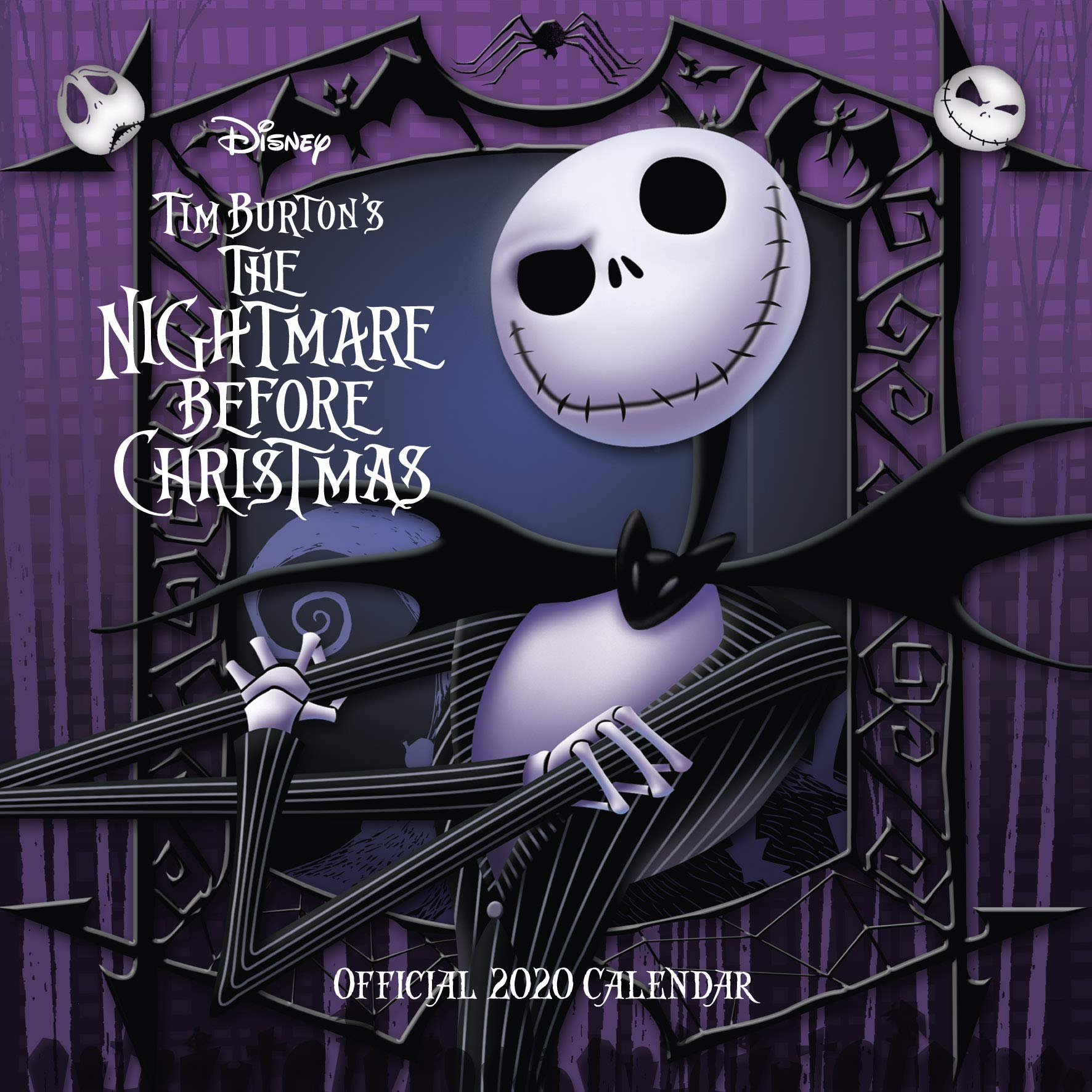 The Nightmare Before Christmas - 2020 Wall Calendar Nightmare Before Christmas 2020 Calendar   Official Square Wall