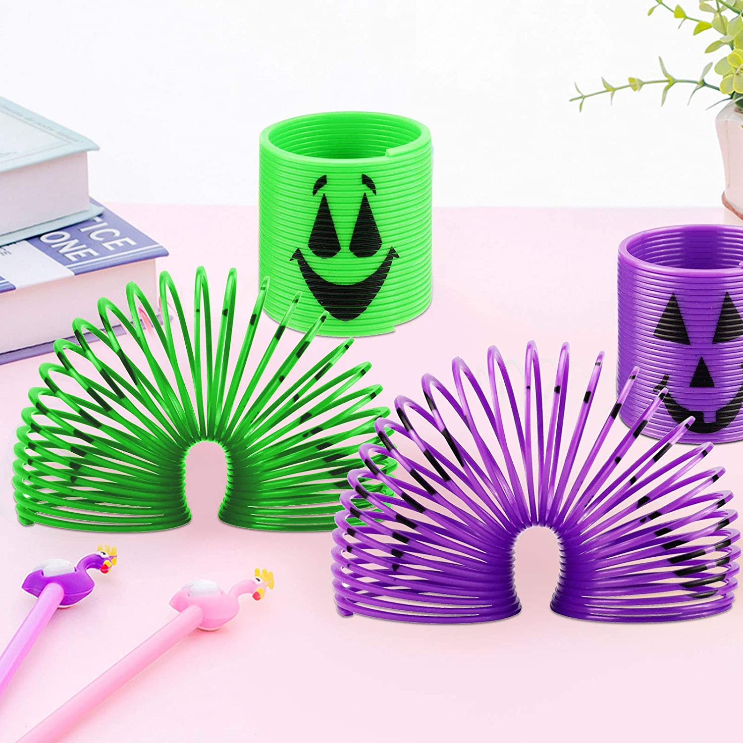 Halloween Magic Springs Mini Magic Springs Toys for Kids-Perfect for Trick or Classroom (60 Pcs )