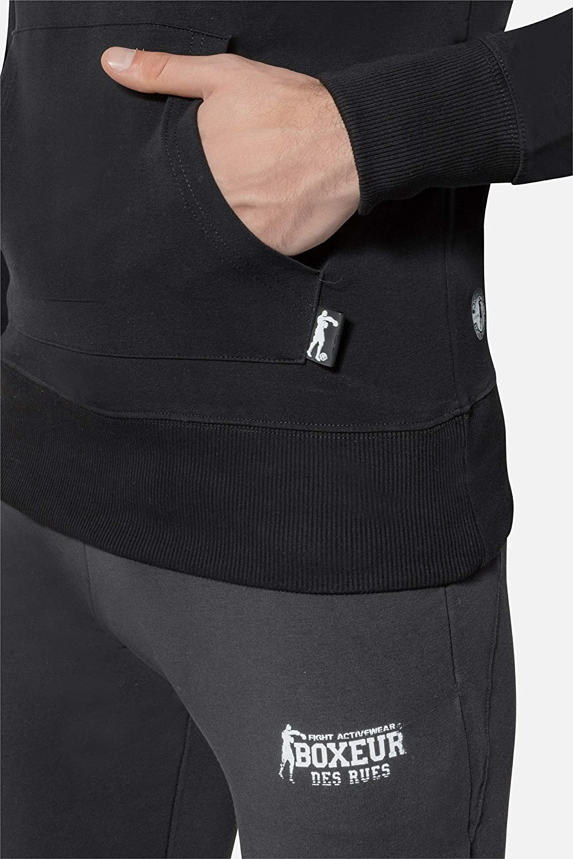 BOXEUR DES RUES - Tracksuit with Black Sweatshirt, Man: Amazon.es ...