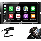 "JVC D.Din 6.8"" Touchscreen AM/FM/CD/BT Mechless SiriusXM Apple Car Play &Android Auto"
