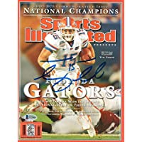 $207 » Tim Tebow Autographed Florida Gators 2008 National Champions Sports Illustrated 1/14/09 Beckett Authenticated - Autographed College…