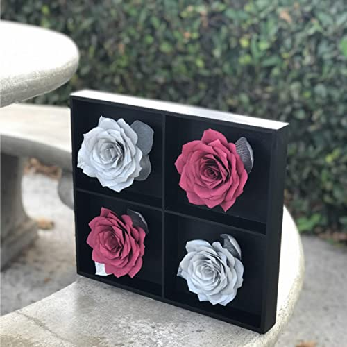 Amazon Com Burgundy And Silver 3d Paper Flower Wall Art
